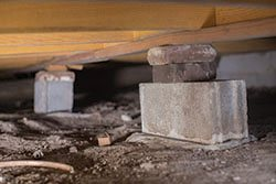 sagging crawl space